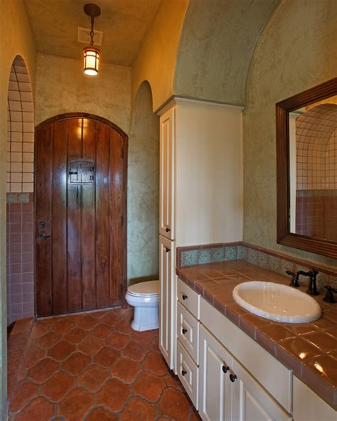 bathroom stall in spanish spanish colonial
