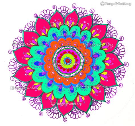 new year flower design beautiful rangoli designs for new year www imgkid