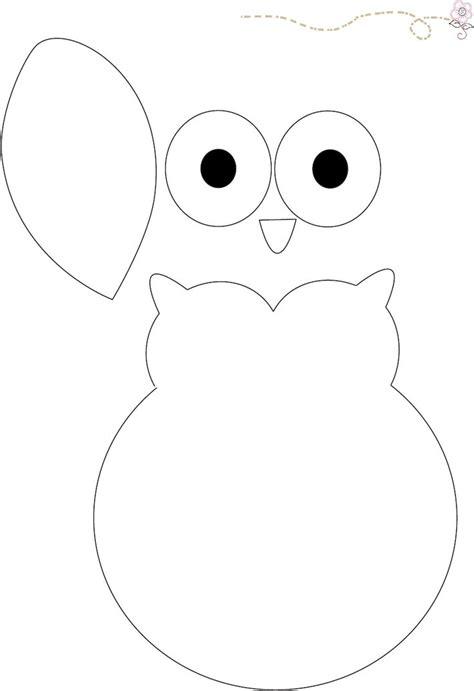 construction paper owl template diy le doudou hibou pour enfant les sales gosses
