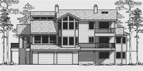 house plans view sloping lot