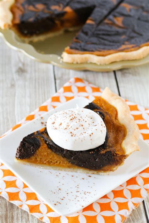 gluten free vegan chocolate swirled pumpkin pie