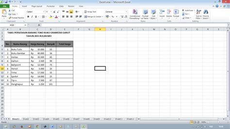 Contoh Microsoft Excel contoh fungsi statiska di ms excel bagi ilmu