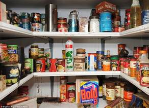 Food Cupboard Cupboard Opened For Time In 40 Years Contains Food