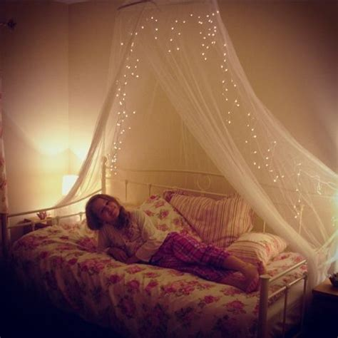 Bed Canopy With Lights Megan S New Vintage Daybed With Floral Bedding And Light Canopy Miscellaneous