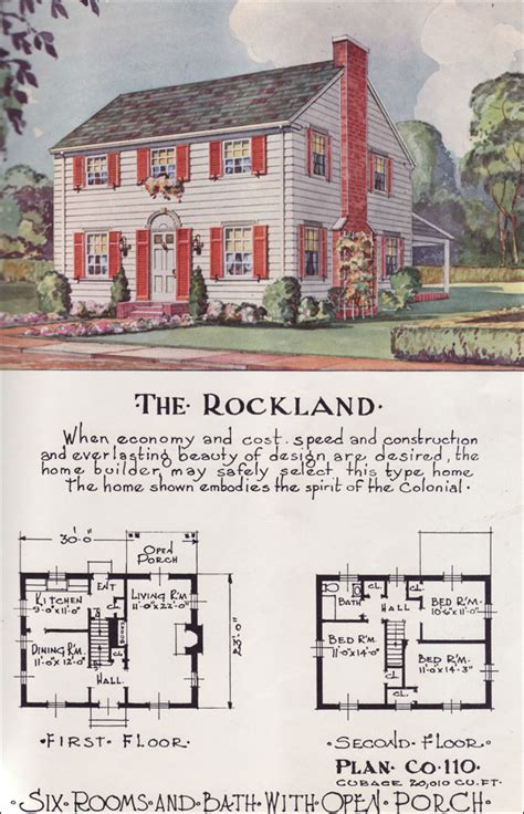 1950s house floor plans mid century tradtional colonial revival style nationwide