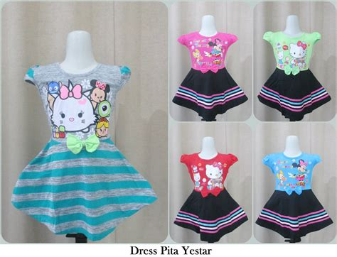 Dress Catra Pita grosir dress pita yestar anak perempuan murah tanah abang