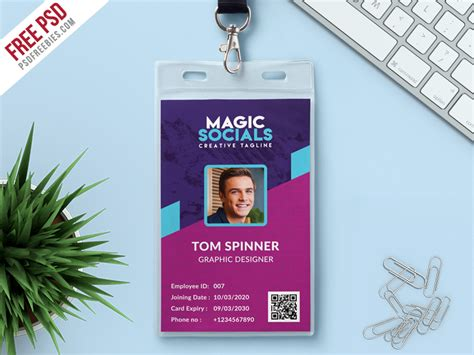design id card umroh office identity card free psd by psd freebies dribbble