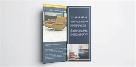 property brochure template free tri fold brochure free indesign template