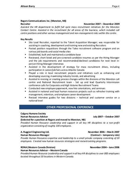 Student Recruiter Sle Resume by 100 Resume Human Resource Ojt Staffing Recruiter Resume Recruiter Resume Sles Resume