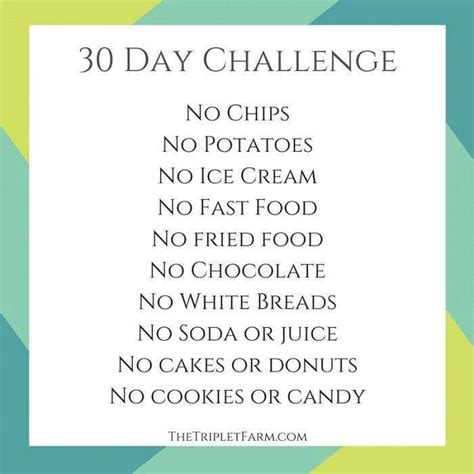 30 days of challenge 30 day quot don t eat this quot food challenge