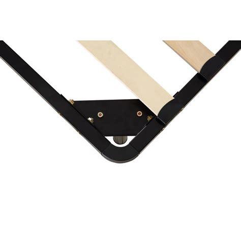 metal slatted bed base king size wooden slatted metal bed base in black buy