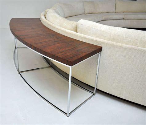 semi circle couch sofa milo baughman semi circle sofa w console table at 1stdibs