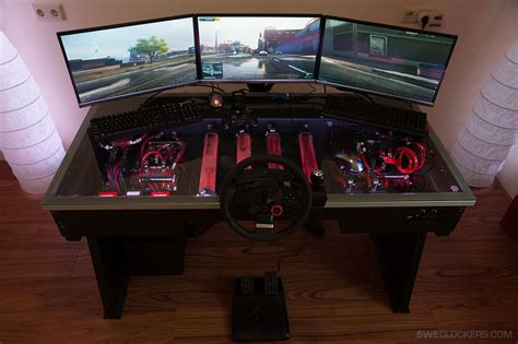 pc table this is a table with a built in pc gaming