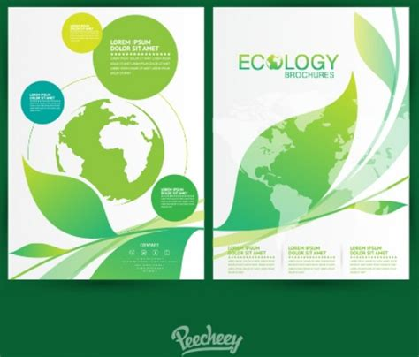 how to layout a brochure in illustrator ecology brochures flat design free vector in adobe