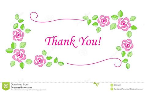 Thank You Card Template Flowers by Clip Thank You Flowers 101 Clip