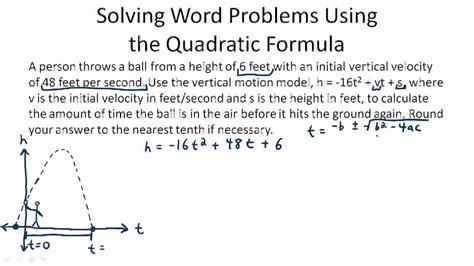Word Problems With Quadratic Equations Worksheet by The Quadratic Formula Algebra Ck 12 Foundation