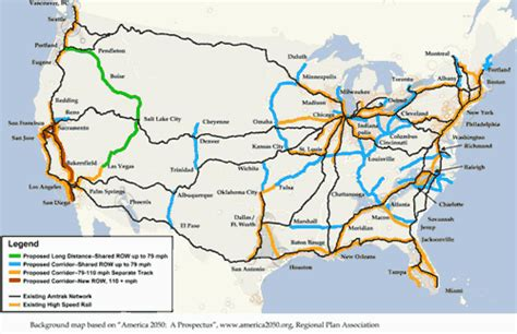 passenger map usa us passenger routes map cdoovision