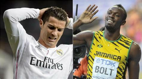 usain bolt weighs in on messi ronaldo and the ballon dor usain bolt has a tip to make cristiano ronaldo faster