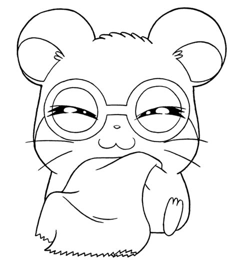 free coloring pages of cartoon hamsters