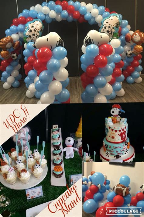 Baby Shower Football Theme by Snoopy Football Theme Baby Shower Unique Cakes
