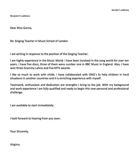 email cover letters short template inside simple letter for resume