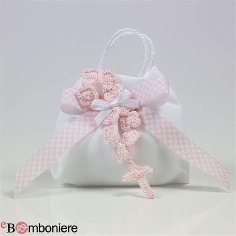 fiori uncinetto per bomboniere bomboniera per comunione rosario uncinetto rosa con fiori