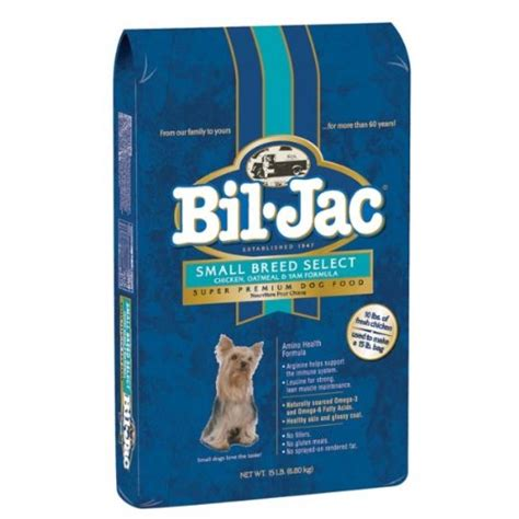 bil jac food bil jac 319064 small breed select food for dogs 15 pound food treats toys