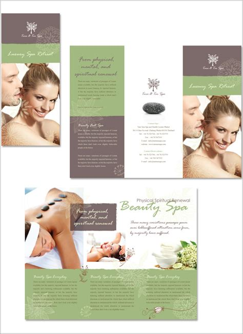 free templates for spa brochures 16 amazing spa brochure template designs free