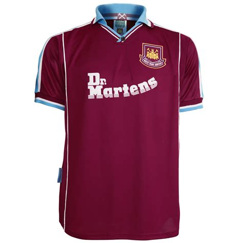 Dr Martens West Ham United Tees di canio 2000 home shirt