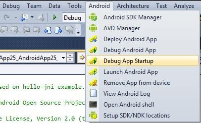 debugging app for android vs android debugging images