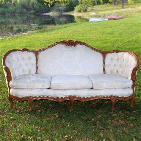 rent a couch for a day milan ivory vintage couch forever vintage rentals