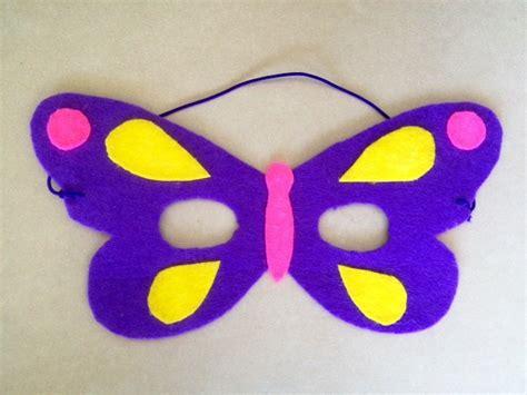 craft masks no sew felt butterfly mask my kid craft