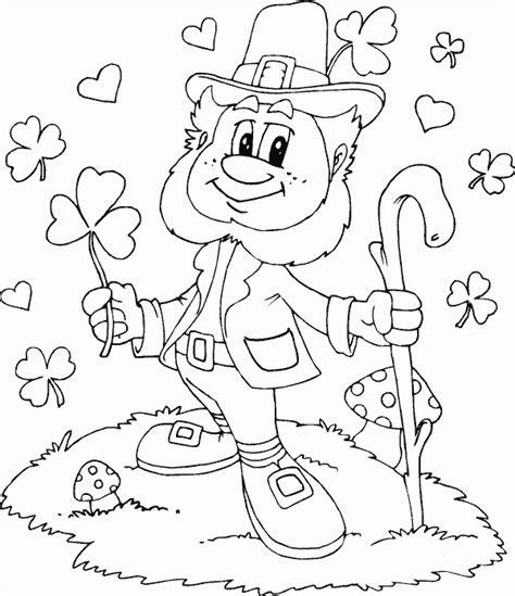 leprechaun shamrocks hearts coloring pages printable