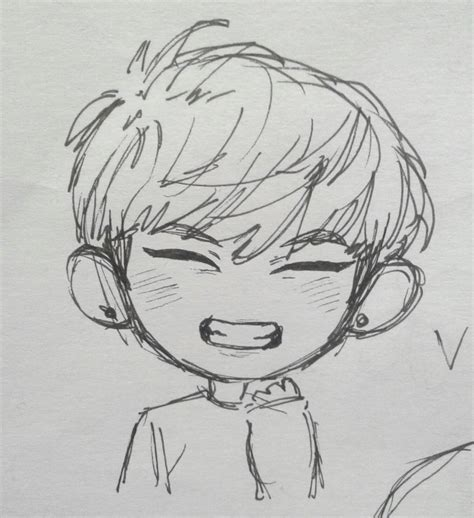 V Drawing Easy by Bts Drawing Chibi Easy Pinkookie Bunny On Taehyung