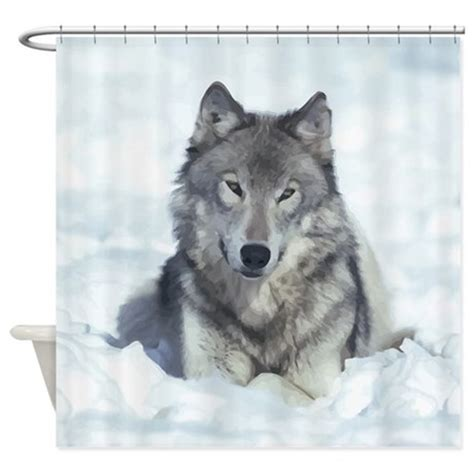 wolf shower curtain wolf shower curtain by esangha