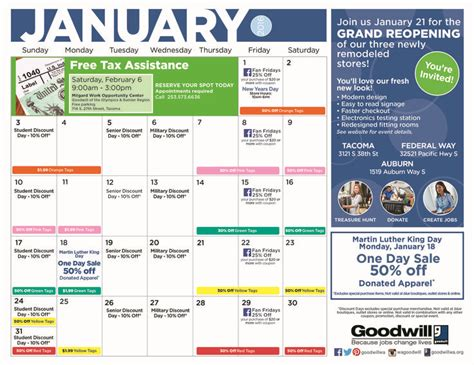 Goodwill Sales Calendar 17 Best Images About Thrift Store On Shops