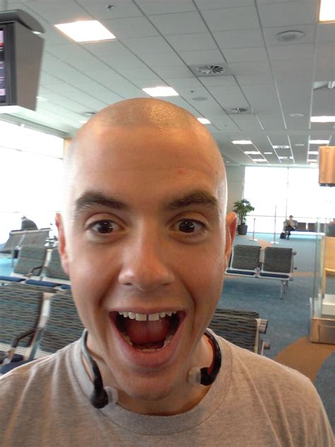 shaving in shades of gray avoiding moose on bikes it begins with a shaved head and