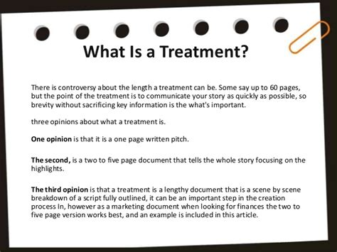 writing a treatment writing a treatment