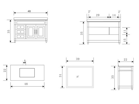 width of bathroom vanity exceptional bathroom vanity dimensions 5 48 hudson single bath vanity