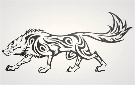 mind blowing tribal wolf tattoos that are more than just