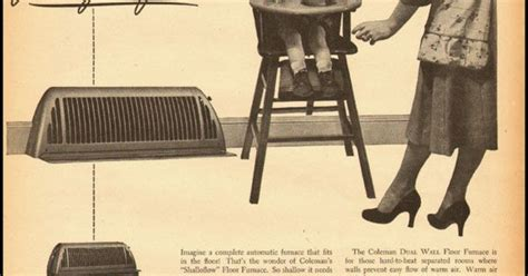 Coleman Floors by 1951 Vintage Ad For Coleman Floor Furnace 032412