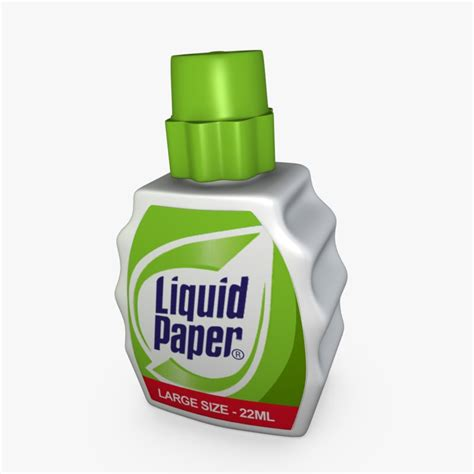 How To Make Liquid Paper - 3d liquid paper model