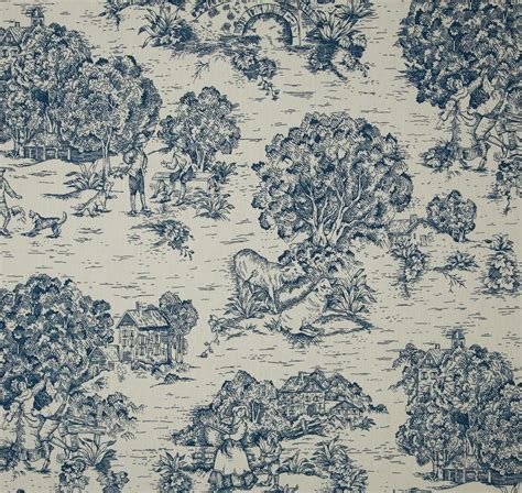blue toile shower curtain items similar to fabric shower curtain quaker toile ocean