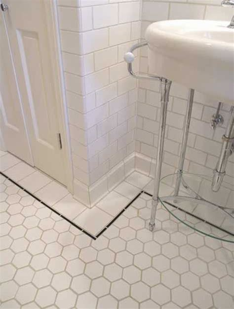 subway tile bathroom floor ideas 37 black and white hexagon bathroom floor tile ideas and pictures