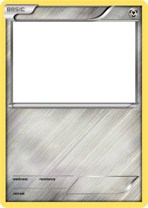 trading card template without energy type bw metal basic card blank by the ketchi on deviantart
