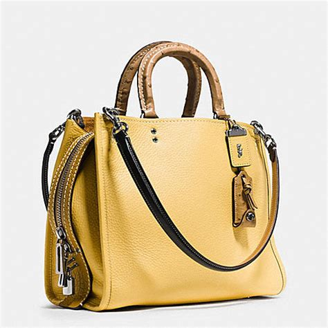 Coach Swager Mini 27cm Patcwork Authentic Product coach satchels bags yellow numbers coachfactory