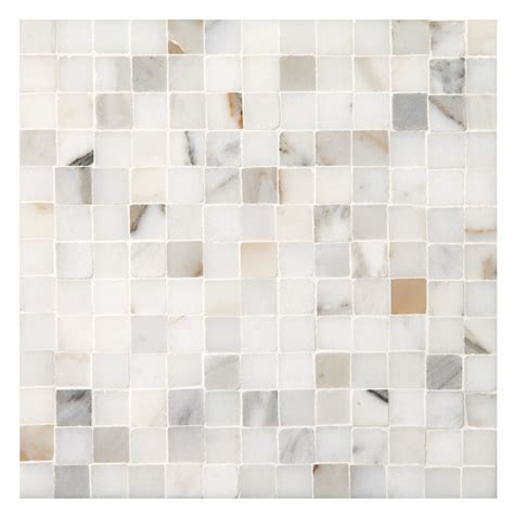How To Install A Mosaic Tile Backsplash In The Kitchen marble mosaic tile 3 8 quot square tight joint calacatta