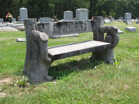 Stone Benches For Cemetery Tree Stump Tombstones Gravely Speaking