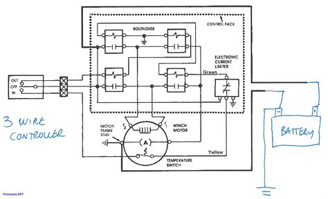 winch contactor wiring diagram warn a2000 winch wiring diagram collection