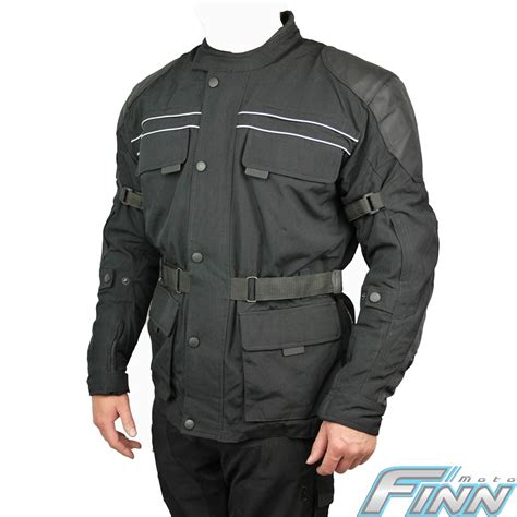 all black motorcycle jacket mens black all season cordura touring bmw commuter scooter